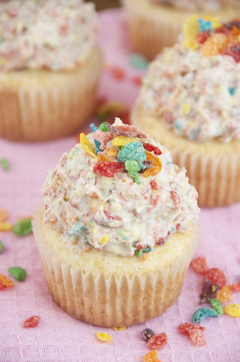 12 Fun Ways To Eat Fruity Pebbles; buttercream frosting