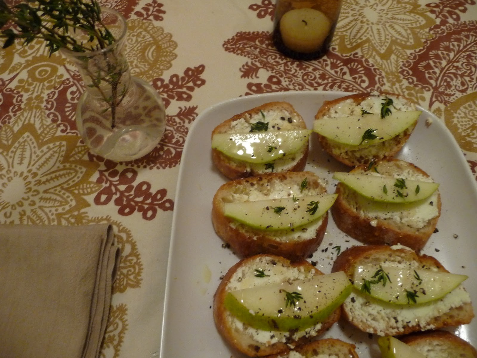 Pear, Raspberry And Goat Cheese Crostini Recipe — Dishmaps