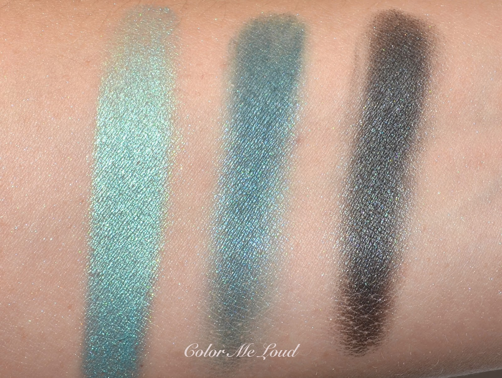 Swatches of the Pop Shades/Liners: Lancôme My Paris Eye Shadow Palette