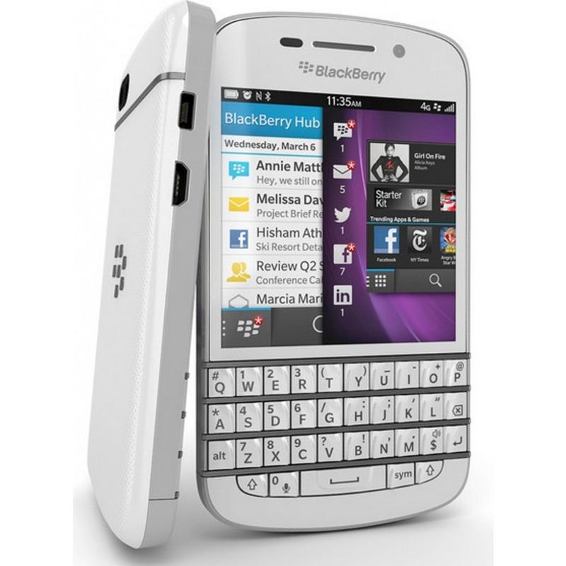 Gambar BlackBerry Q10 Putih.