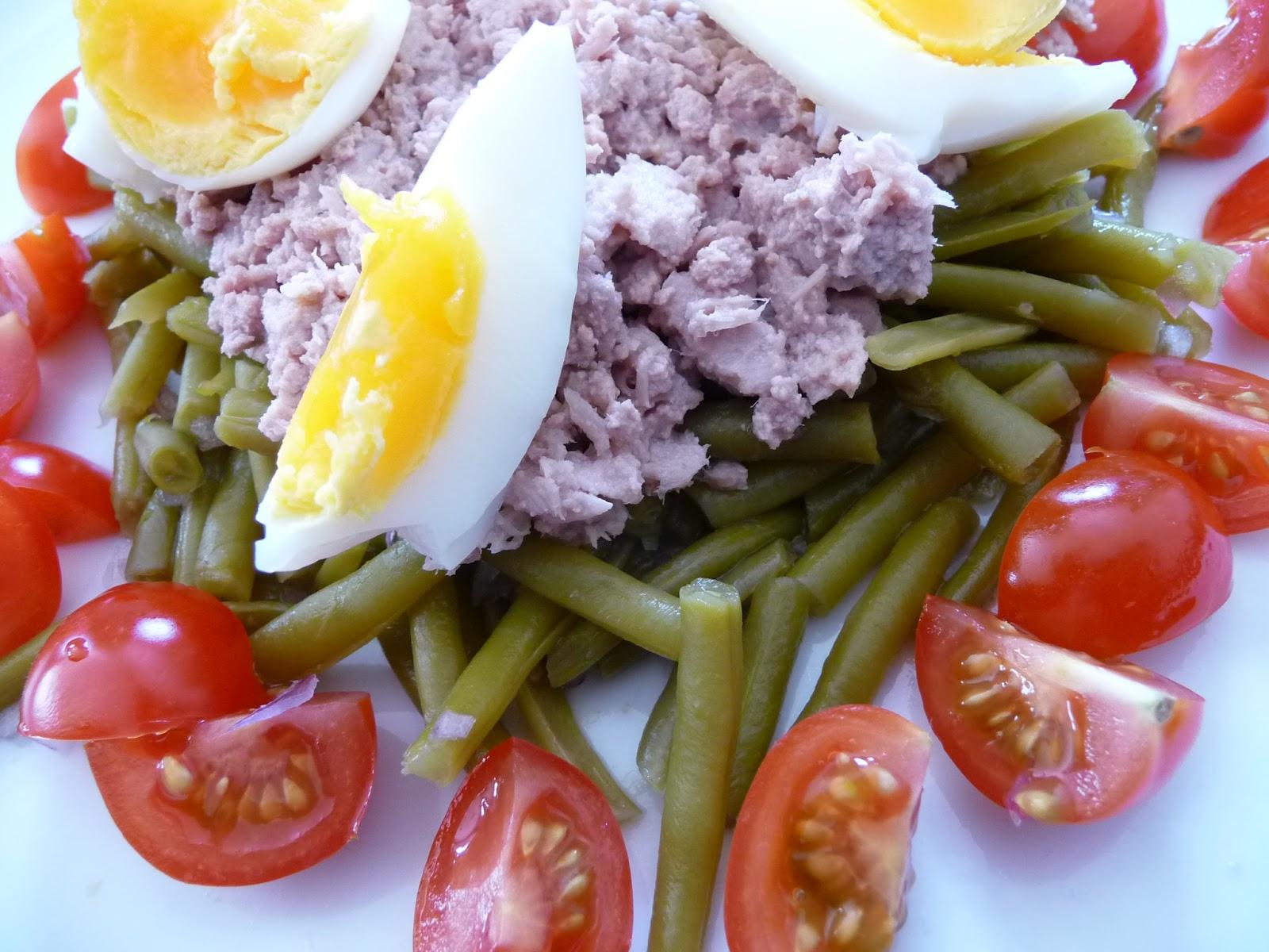 salade haricots verts tomates oeufs thon blogs de cuisine. Black Bedroom Furniture Sets. Home Design Ideas