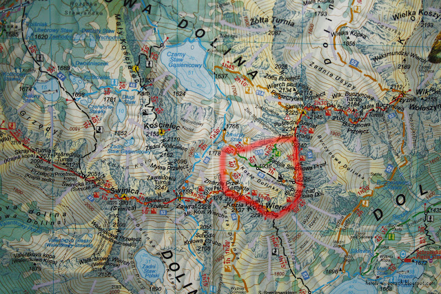 Kozia Dolinka na mapie