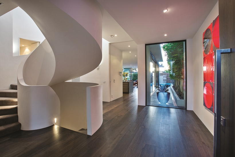 Stairs in the Perfect Modern Townhouse by Martin Friedrich Architects