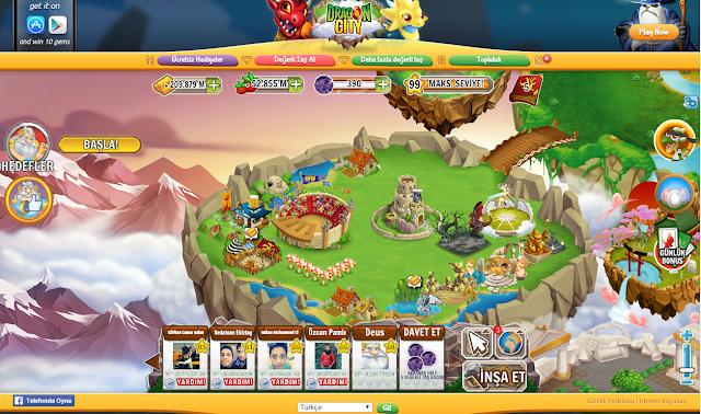 Dragon City 99 Level Olma Hilesi