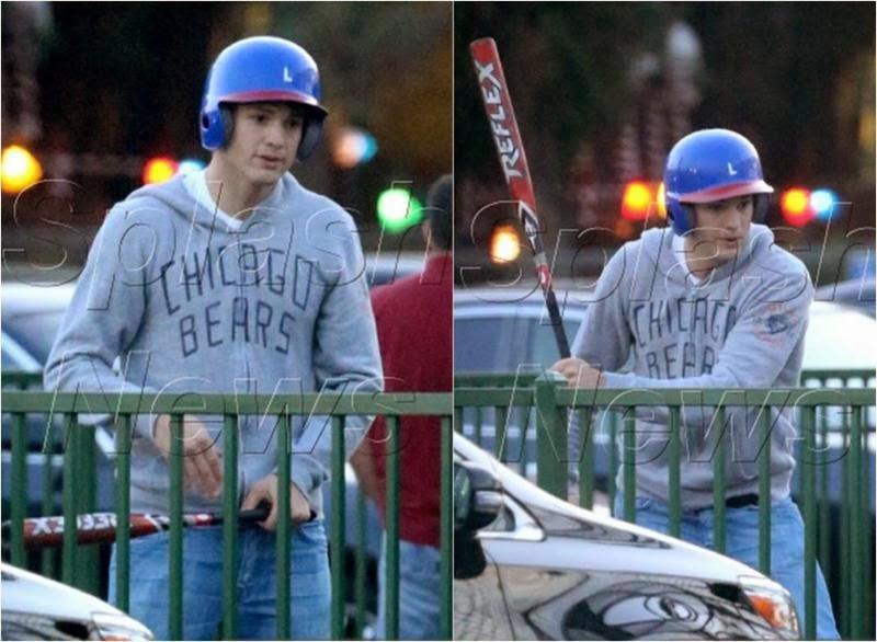 Ashton Kutcher wearing NFL hoodie