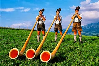 What does band name Blow Monkeys mean - Swiss Alphorn players