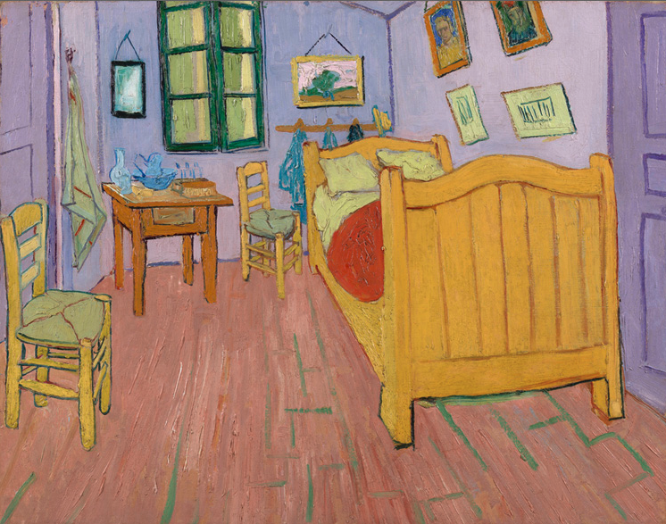 artsnfood closely looking at van gogh 39 s bedroom at arles am