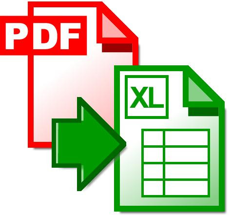 Convert or Translate PDF to XLS Free Online