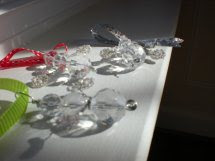 Sparkly glass bead ornaments 2