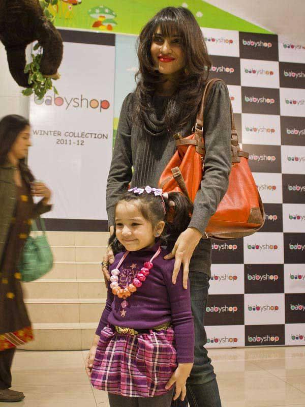 Zhalay Sarhadi with daughter Anaya