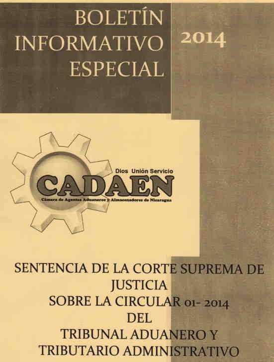 Boletín Especial de CADAEN