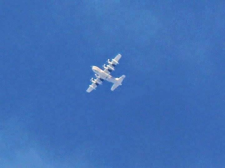 مشاهدة طائرة C-130 لأول مرة في أجواء رفح
