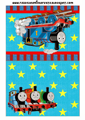 Thomás el Tren: tarjetería para Imprimir Gratis.