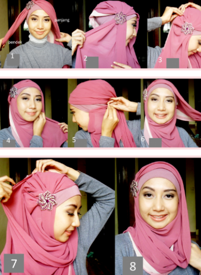 Hijab pesta simple modern