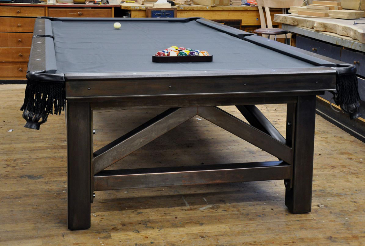 Dorset custom furniture a woodworkers photo journal the for How to build a billiard table