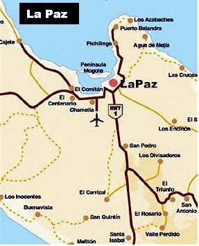 Map of La Paz City Area Map of Mexico Regional Political Geography