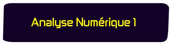 Analyse Numerique 1 sma s4