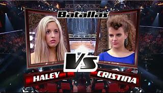 Cristina Rueda y Haley Haitz-Batallas La Voz