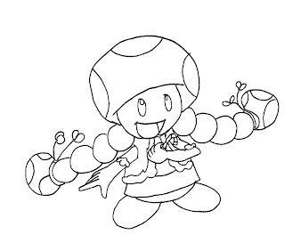 #9 Toadette Coloring Page