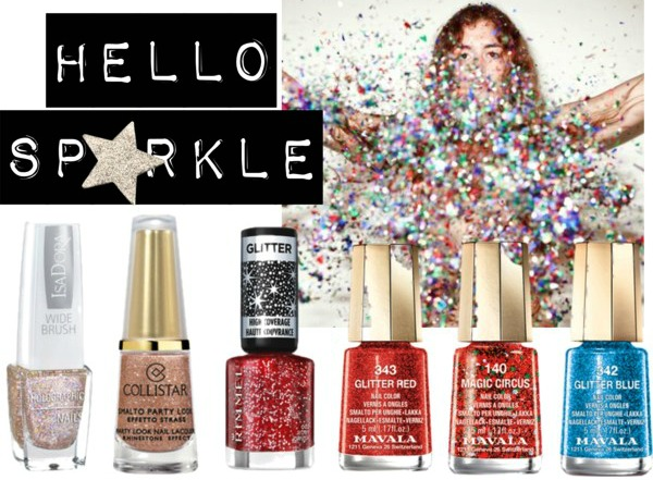 Glitter Nail Polish Holiday Nails