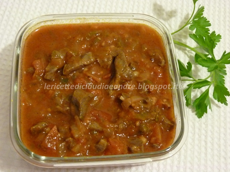 Le ricette di claudia andre cuore di vitello nel umido - Come cucinare fettine di bovino ...