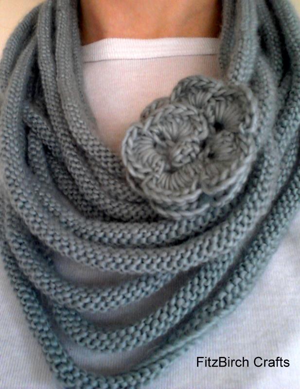 French Knitting Jewellery Tutorials : Fitzbirch crafts rose medusa cowl