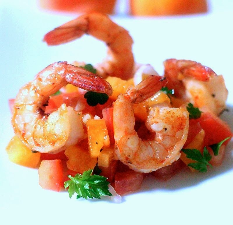 Ginger Shrimp with Apriot Salsa