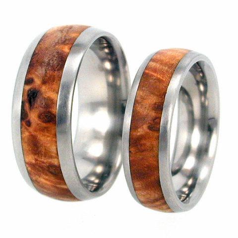 Wooden Wedding Rings Gold Coast