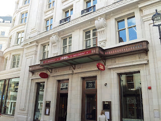 Entrance to Brasserie Zedel on Sherwood Street