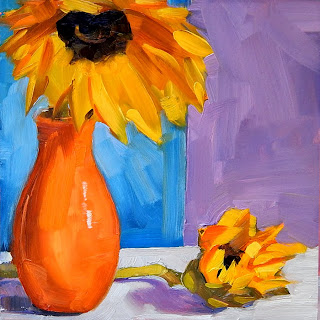 still life,oil on gessoboard,6x6,price $40