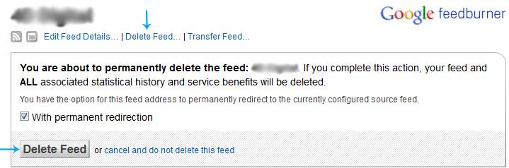 Delete feed