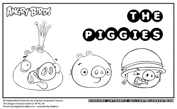Orange Angry Bird Coloring Page