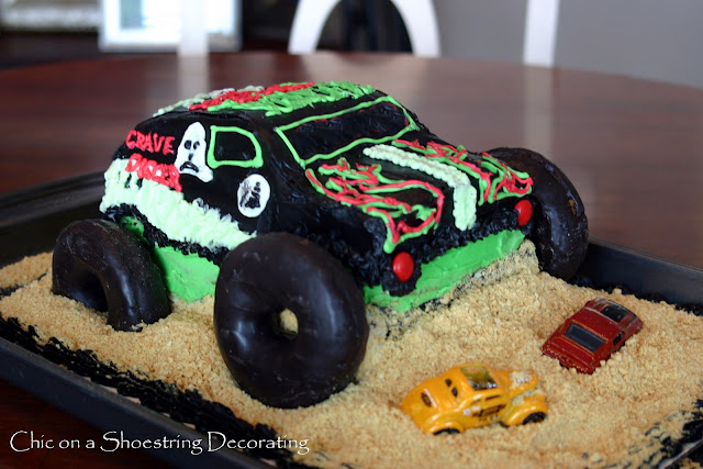 Chic on a Shoestring Decorating: Monster Jam Birthday Party