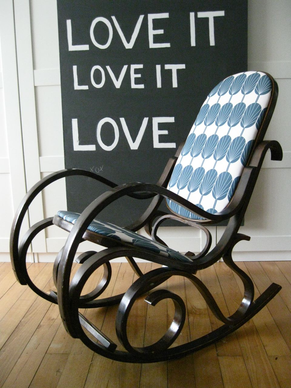 Salvaged, re-upholstered, styled, photographed and finally, SOLD all ...