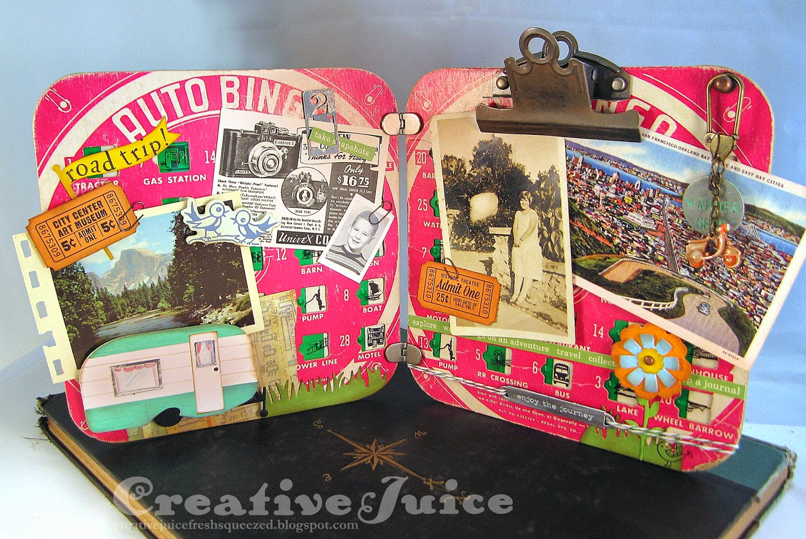Lisa Hoel – Eileen Hull Vintage Travel Sizzix Collection