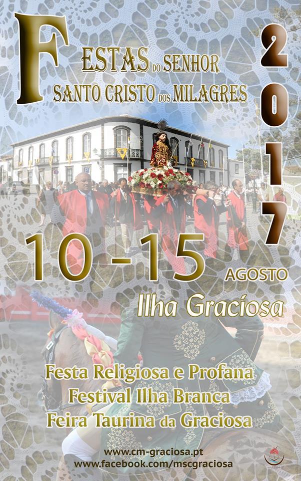 Festas de Santo Cristo 2017 de 10 a 15 de Agosto