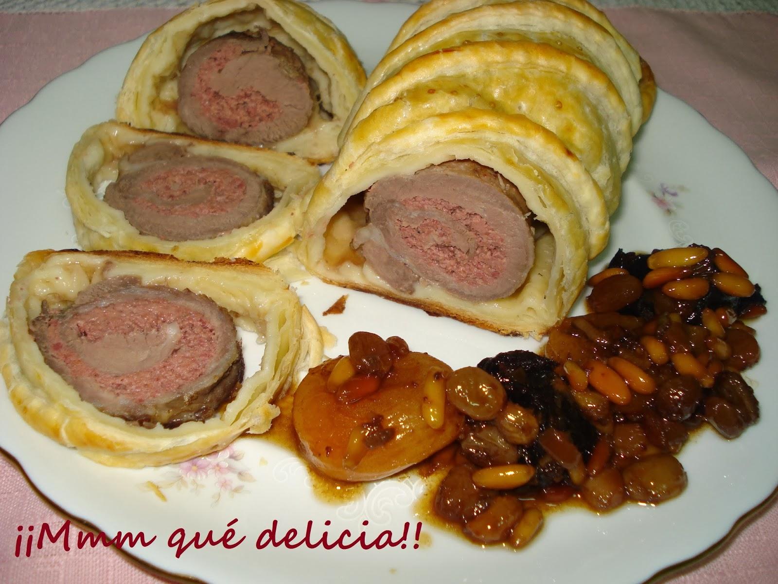 Mmm qu delicia solomillo de cerdo ib rico relleno de - Como preparar un solomillo de cerdo al horno ...