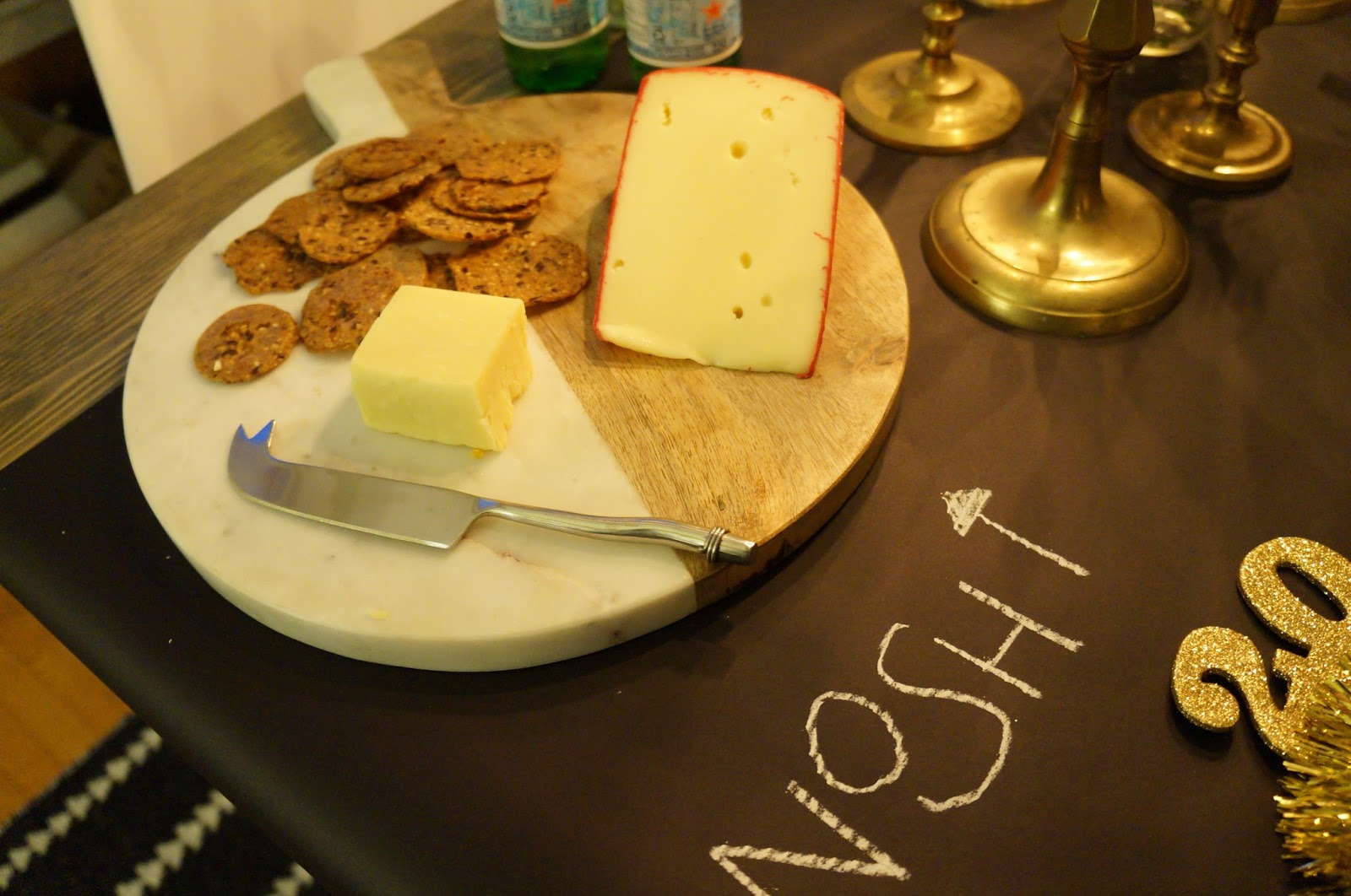 New Year's Eve Tablescape; Party, NYE, Cheese