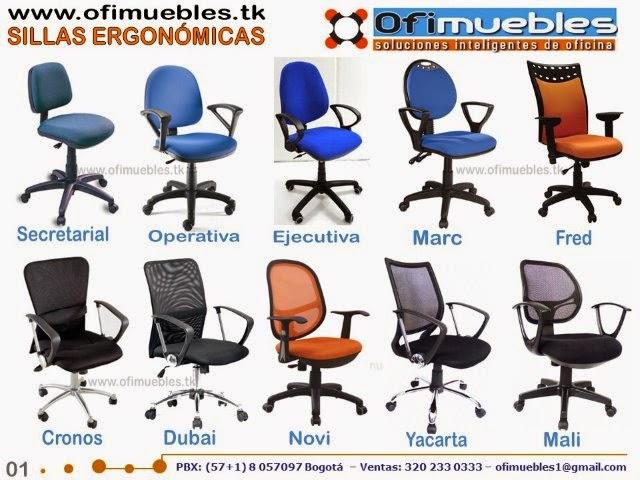 Ofimuebles colombia muebles para oficina divisiones for Tipos de sillas de oficina