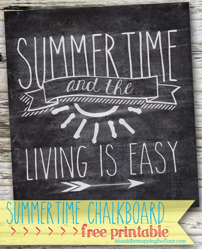 photo about Chalkboard Printable called Cost-free Summer Chalkboard Printable i should really be mopping