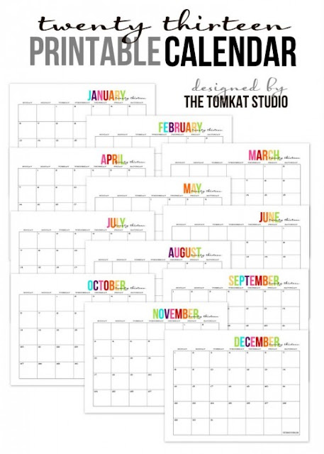 Printable Monthly Calendar Templates  Free Printable 2018