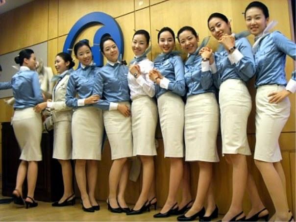 The Uniform Girls: [PIC] Korean Air Hostess Uniform Women 2