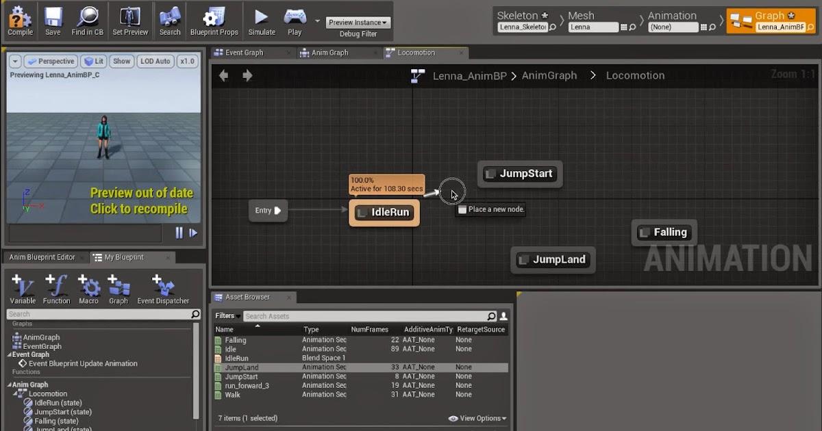 Mixamo to unreal engine 4 workflow cg tutorial malvernweather Images