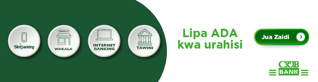 CRDB Bank Advert_Lipa ADA kwa urahisi_140121