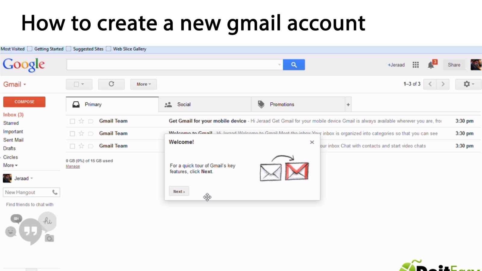 How do i make a free gmail account