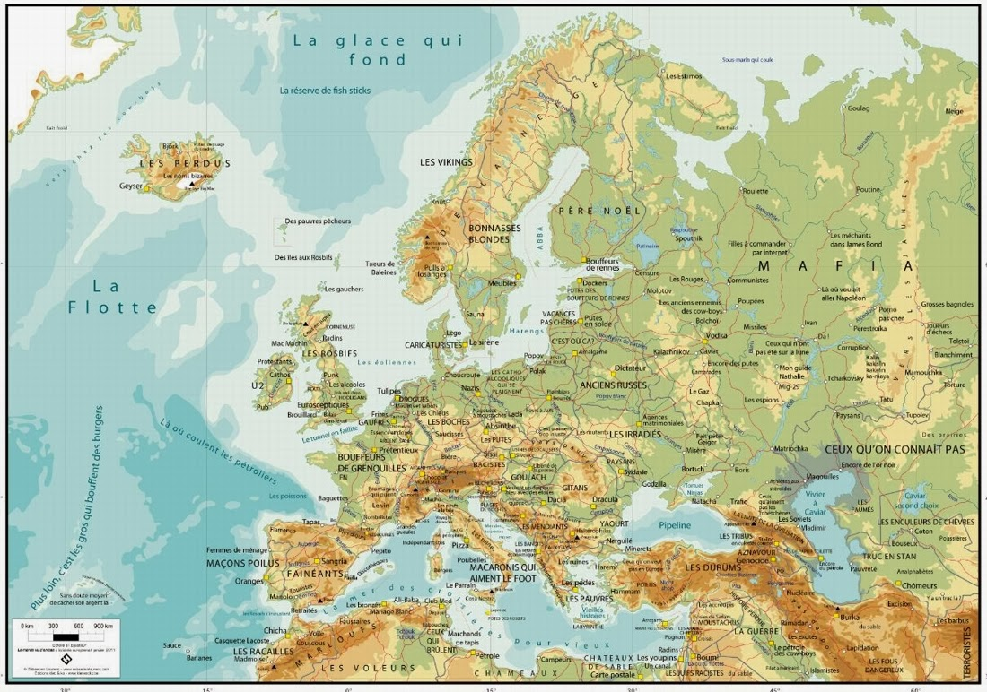 Europa, Europe, Mapa, Map, Carte, Sébastien Laurent