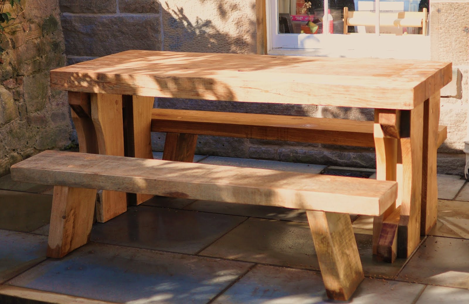 Garden Furniture Made From Scaffolding Planks garden furniture made from scaffolding planks and stairs old
