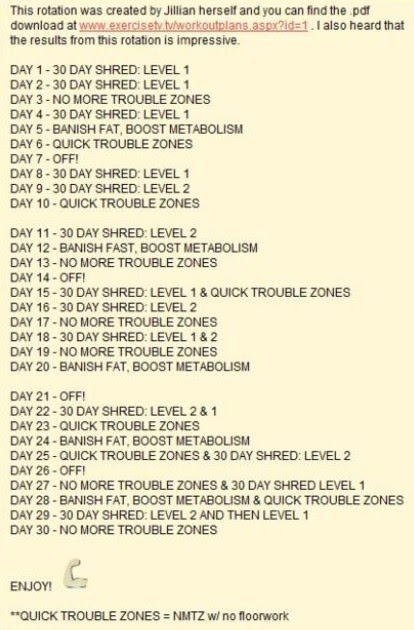 Jillian Michaels Pics: Jillian Michaels 30 Day Meal Plan