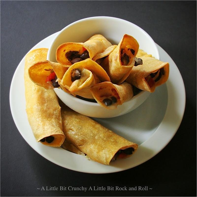 Little Bit Crunchy A Little Bit Rock and Roll: Oven-Baked Flautas