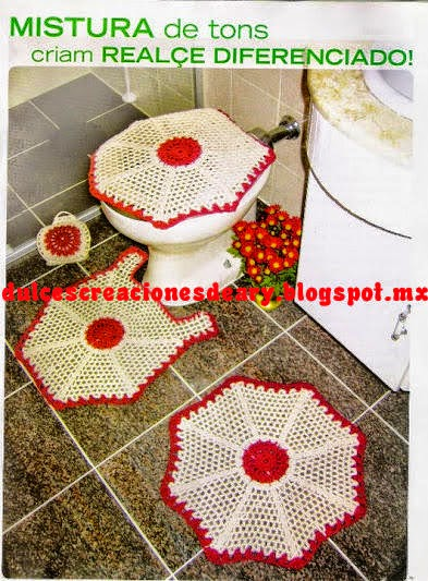 Set De Baño Tejido En Crochet Paso A Paso:Juegos De Bano En Crochet